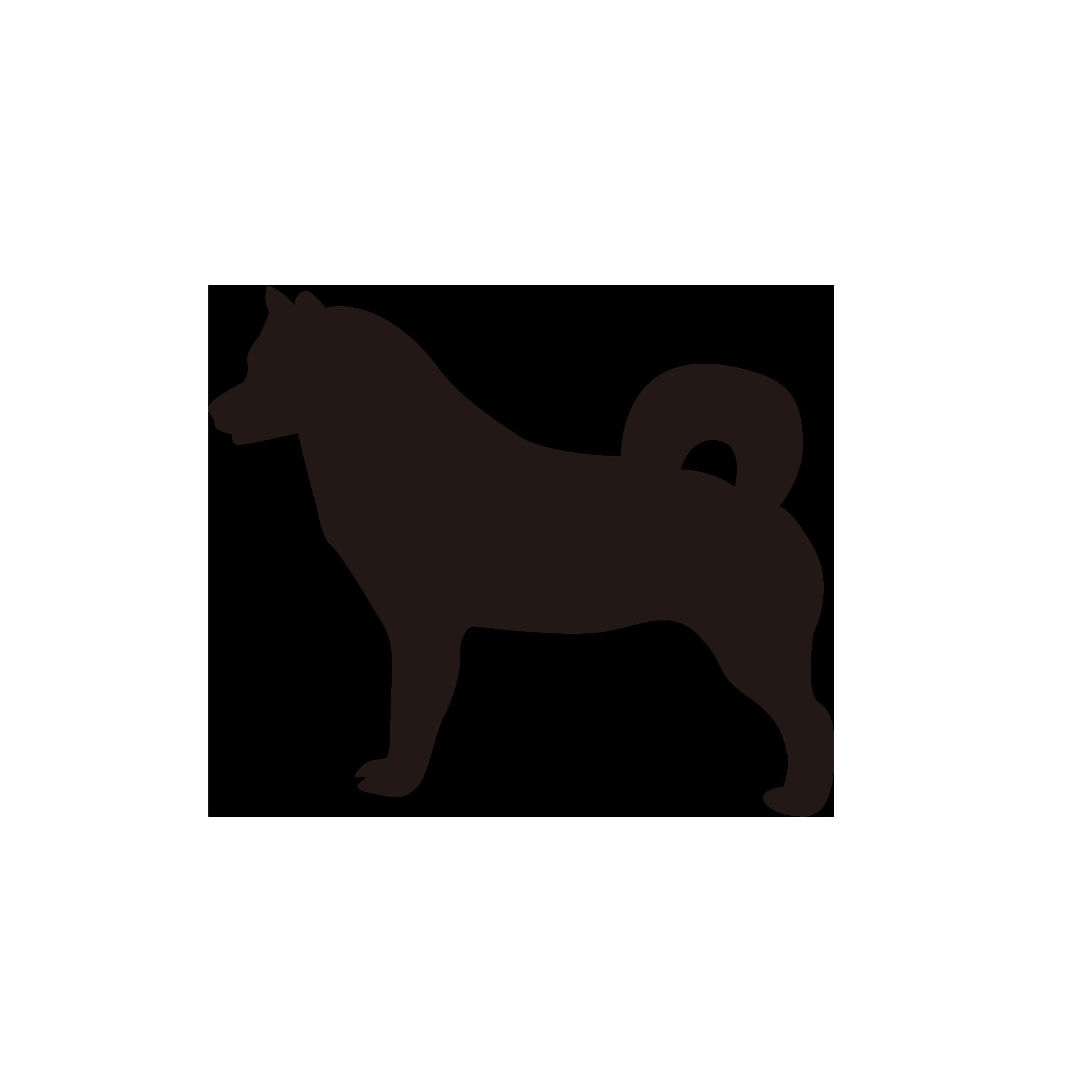犬シルエット